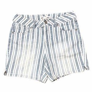 Artisan Ny Striped Jean Shorts